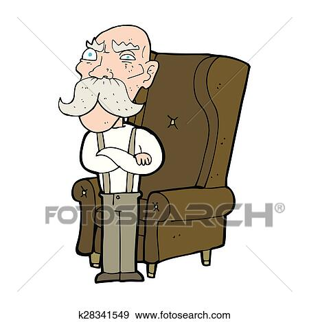 Stock Illustration of cartoon old man and chair k28341549 - Search ...
