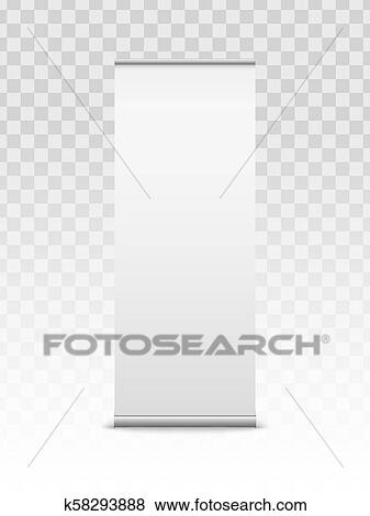 Creative Vector Illustration Of Empty Roll Up Banners With