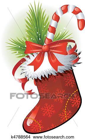 Clipart Weihnachts Strumpf K4788564 Suche Clip Art Illustration