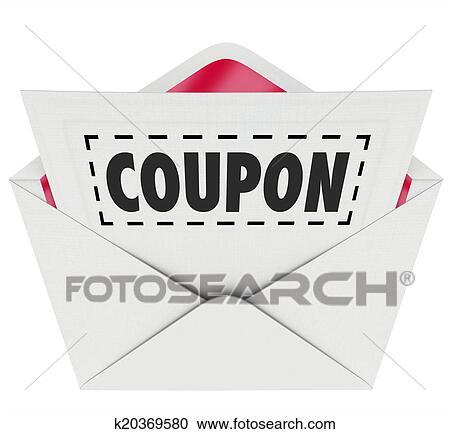 クーポン 封筒 切りなさい 点線 特別 提供 セール クリップアート