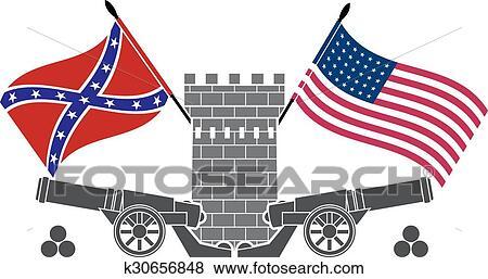 clip art of american civil war k30656848 search clipart rh fotosearch com civil war clipart free civil war clipart free