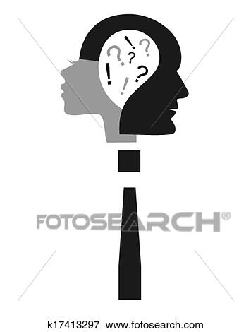 Clip Art Of Conflict K17413297 Search Clipart Illustration