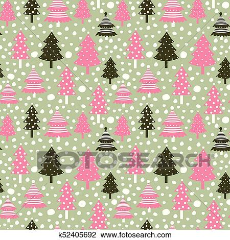 Christmas Backgrounds Cute.Cute Seamless Pattern With Christmas Trees For Winter Designs And Backgrounds Clipart
