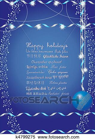 Clipart of happy holidays greetings on many languages send it to clipart happy holidays greetings on many languages send it to your friends all over m4hsunfo