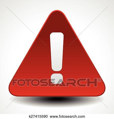 Clipart Rot Warnung Aufmerksamkeit Achtung Zeichen Straße