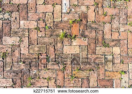Fußboden Aus Ziegel ~ Stock fotografie roter ziegelstein boden hintergrund k