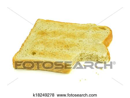 pictures of slice of toast and crumbs k18249278 search stock