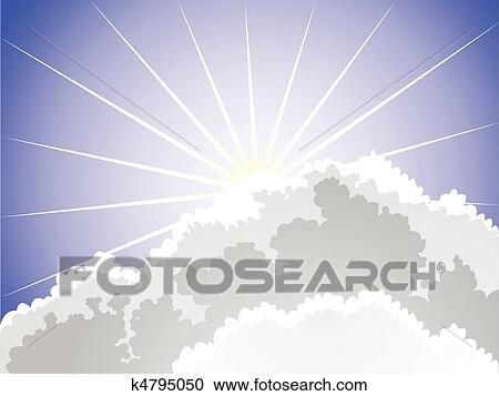 Line Art Of Sun : Clipart of sunlight k4795050 search clip art illustration murals