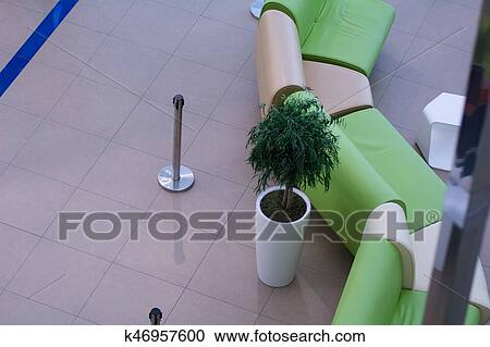 View From Above Of Leather Armchairs Sofas Stock Photography K46957600
