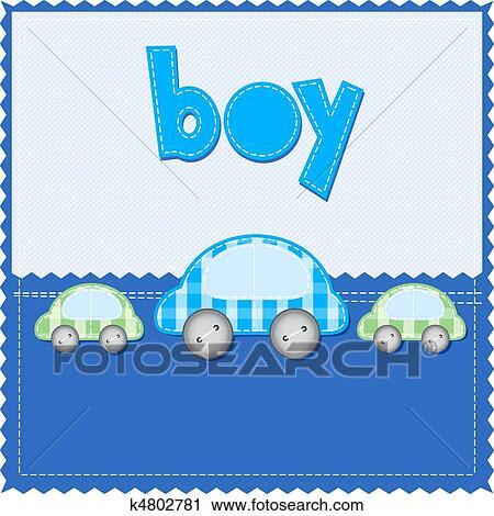 Clipart Of Boy Birthday Card K4802781 Search Clip Art