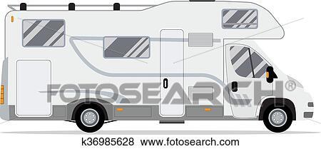Camping Car Dessin clipart - camping car, caravane, truck. k36985628 - recherchez des