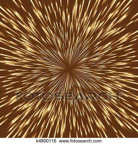 Clip Art Estilizado Dorado Fuegos Artificiales Explosion De La