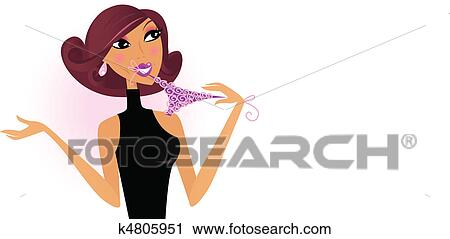 Sexy woman clipart