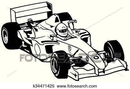 clipart of formula one k34471425 search clip art illustration