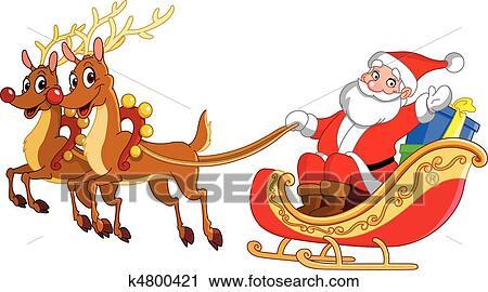 Clipart Nikolausschlitten K4800421 Suche Clip Art Illustration