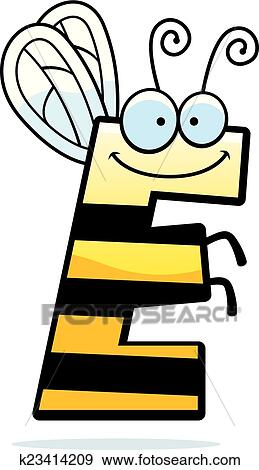 clip art of cartoon letter e bug k23414209 search clipart rh fotosearch com ecliparts clipart e.t