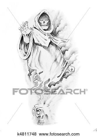 Croquis Tatouage images - croquis, de, tatouage, art, sorcier k4811748 - recherchez