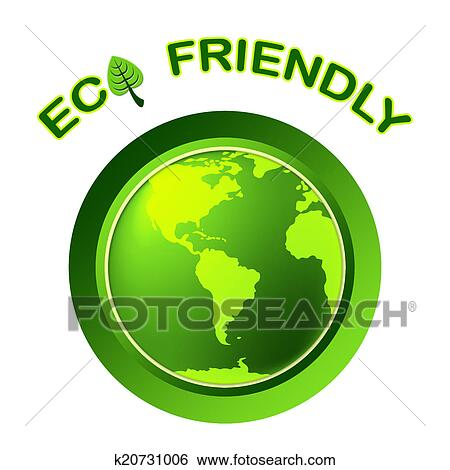 Stock Illustration Of Eco Friendly Shows Earth Day And Environment