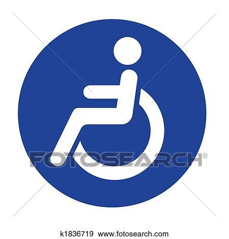 stock photograph of handicap logo k1836719 search stock