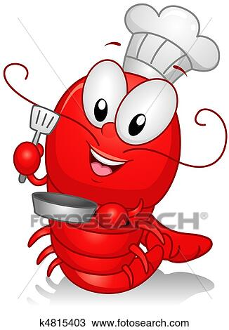 Homard Chef Cuistot Dessin K4815403 Fotosearch