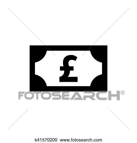 Money Pound Icon Clipart K41570200