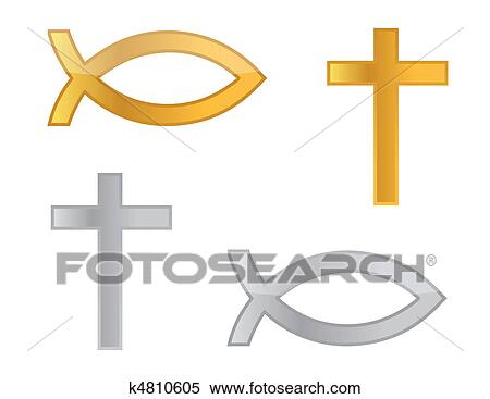 Clipart Of Religious Symbols K4810605 Search Clip Art