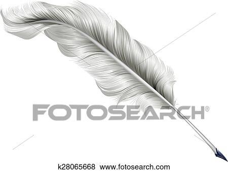 クラシック 羽 羽ペン イラスト クリップアート K28065668 Fotosearch