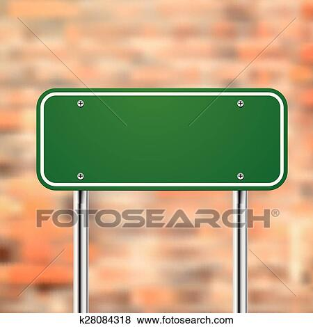Clip Art Of Blank Road Sign Template K28084318 Search Clipart