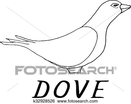 clip art hand draw dove style sketch fotosearch search clipart illustration posters