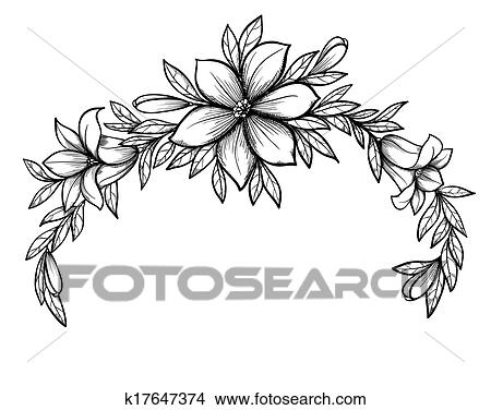 Clipart of beautiful graphic drawing lily branch with leaves and beautiful graphic drawing lily branch with leaves and buds of the flowers many similarities to the authors profile mightylinksfo