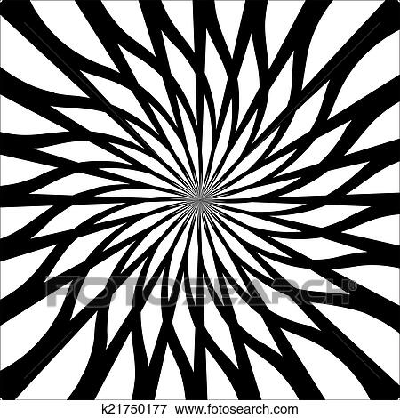 Clip Art Of Black And White Abstract Psychedelic Art