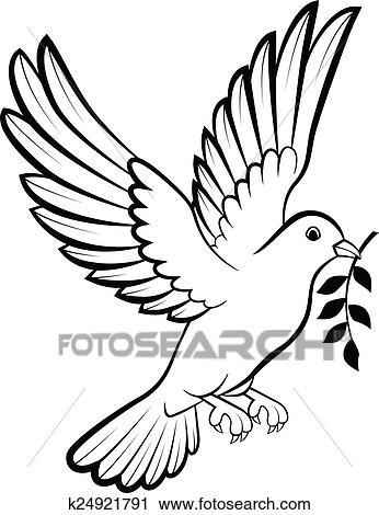 Cartone Animato Colomba Uccelli Logotipo Per Pace C Clipart