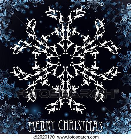 Fussball Silhouette Weihnachten Schneeflocke Clipart