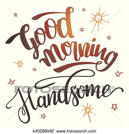 Guten Morgen Hübsch Schönschrift Clipart K40288592