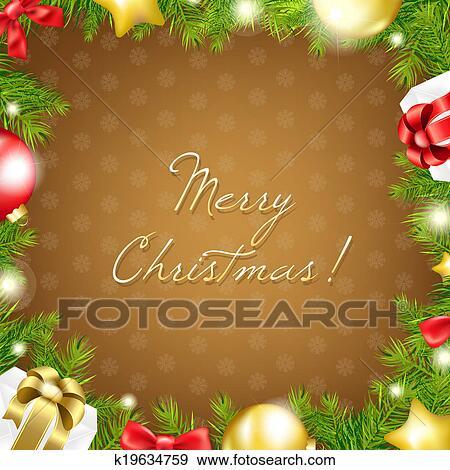 メリークリスマス 壁紙 イラスト K19634759 Fotosearch