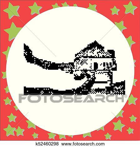 Grande Muraglia Cinese Vettore Illustrazione Isolato Su Rotondo