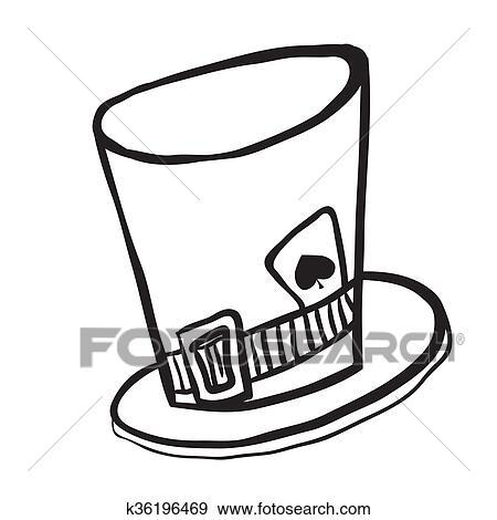 Clip Art - simple, negro y blanco, enojado, hatters, sombrero ...