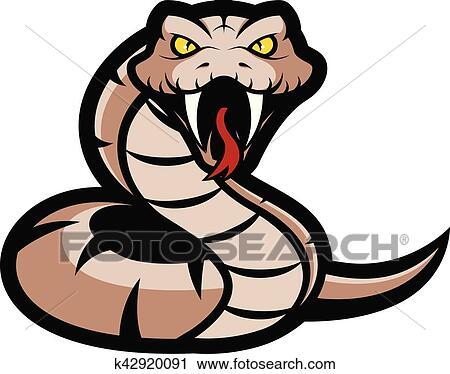 clipart of viper snake mascot k42920091 search clip art rh fotosearch com viper logos clipart viper snake clipart