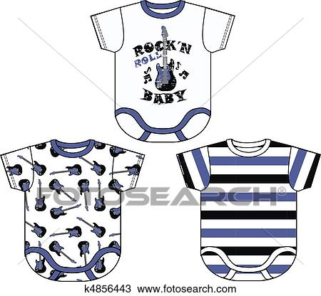 Baby Boy Clothing Drawing K4856443 Fotosearch