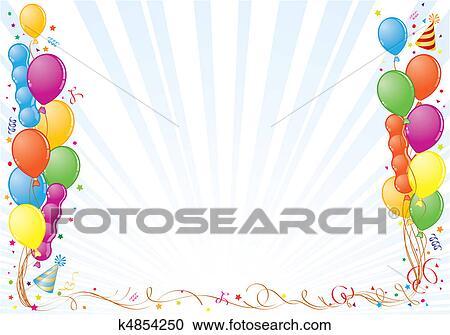 Clipart of Birthday Frame k4854250 - Search Clip Art, Illustration ...