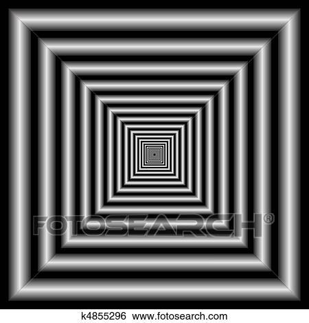 Clipart tunnel optische illusie k4855296 zoek clipart illustratie posters tekeningen en - Ongewoon behang ...