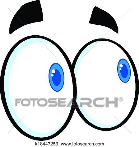 clip art of looking cartoon eyes k18447259 search clipart rh fotosearch com eyeball clipart halloween eyeball clipart black and white