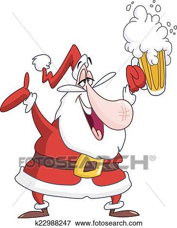 Babbo Natale Ubriaco.Ubriaco Babbo Natale Clip Art K22988247 Fotosearch