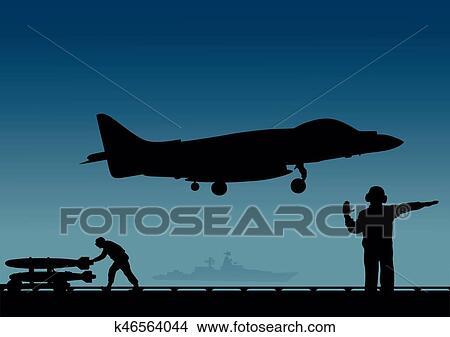 Aircraft Carrier Deck Clip Art