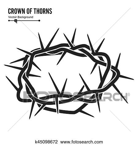 Clipart Of Crown Of Thorns Silhouette Of A Crown Of Thorns Jesus