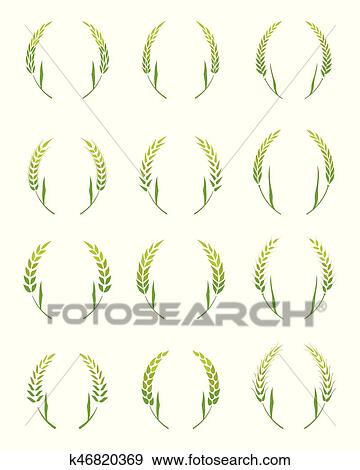 Clip Art Of Gold Laurel Wreath A Symbol Of The Winner K46820369
