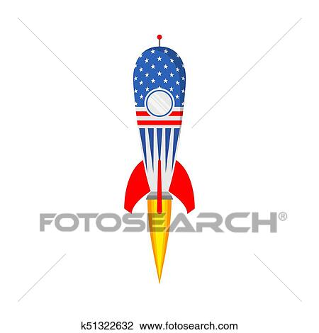 Clipart - nave espacial, icono, en, plano, design., vector ...
