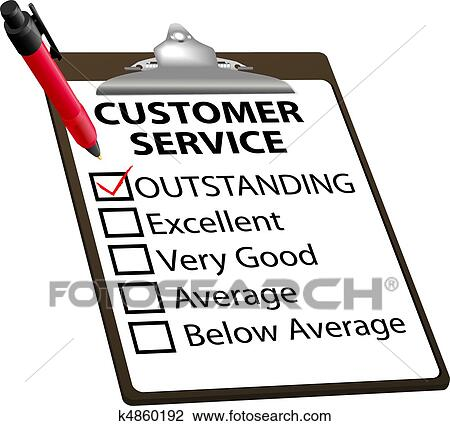 clipart of outstanding customer service evaluation report form rh fotosearch com clipart for customer service week clipart for customer service week