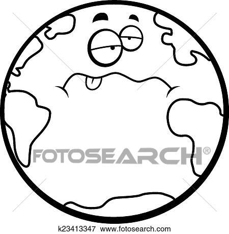 clip art of sick earth k23413347 search clipart illustration rh fotosearch com