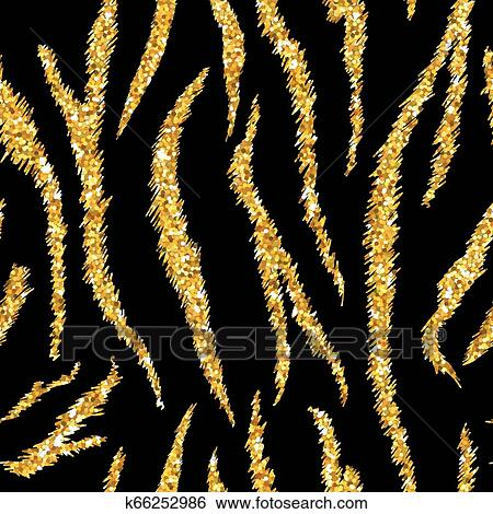 Tiger Texture Seamless Animal Pattern Striped Golden